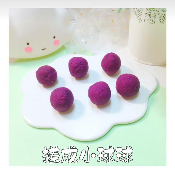 水晶紫薯汤圆怎么炒