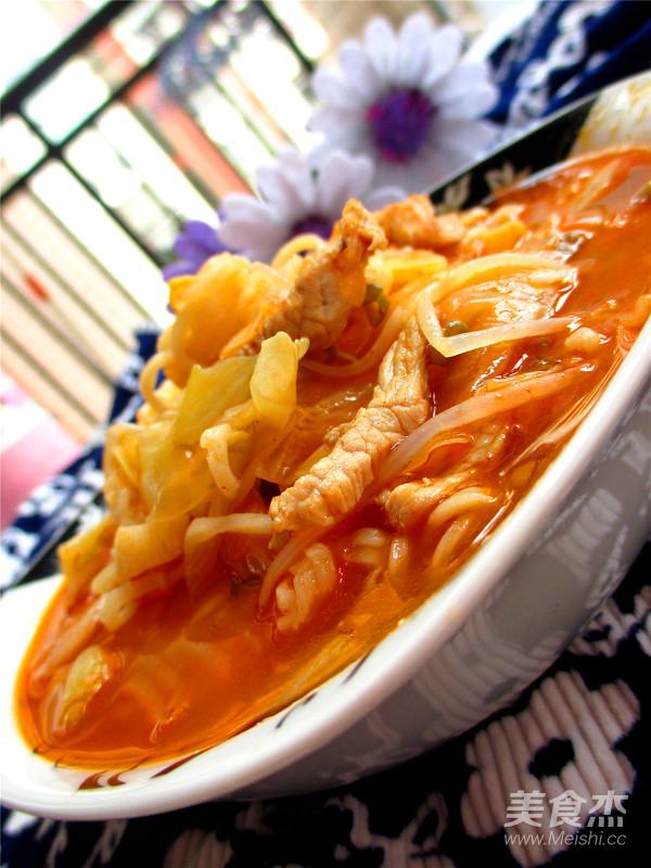 韩式泡菜面成品图