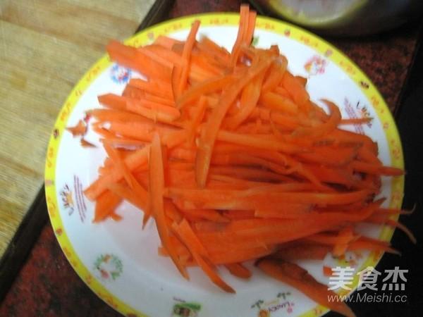 胡萝卜丝煎豆腐的做法图解