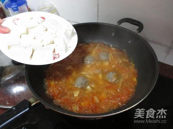 辣白菜炖牛肉丸怎么做