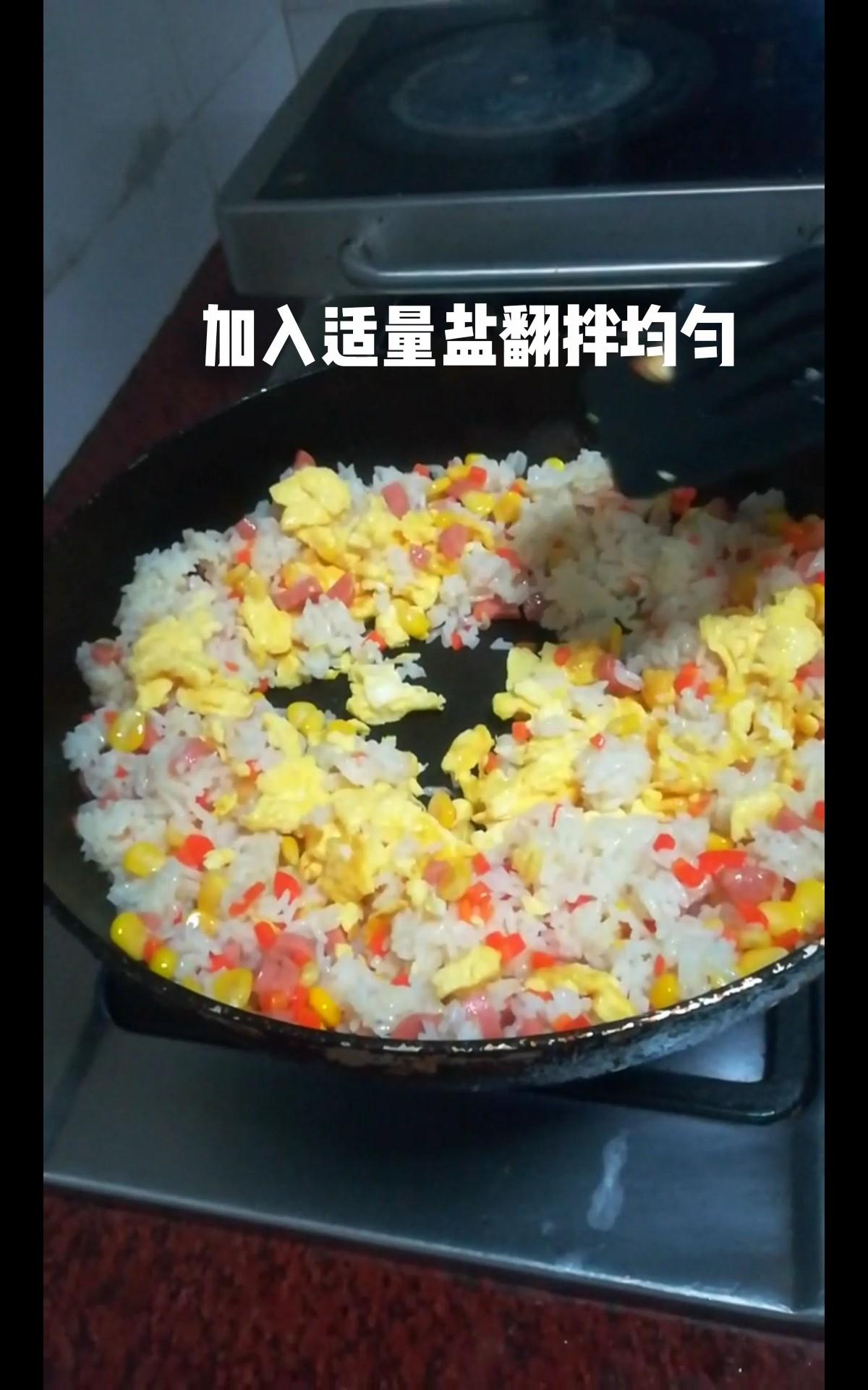 玉米蛋炒饭怎么炒