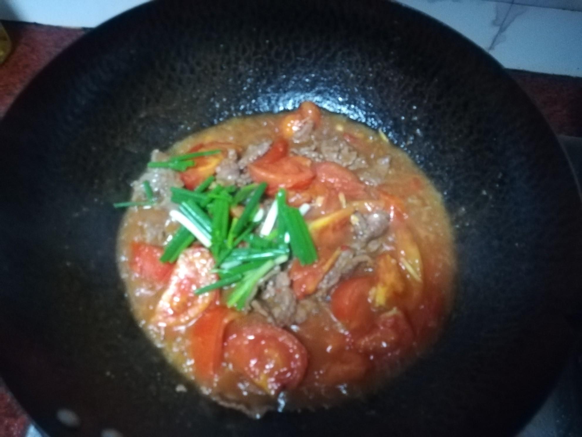 番茄炒牛肉怎样炖