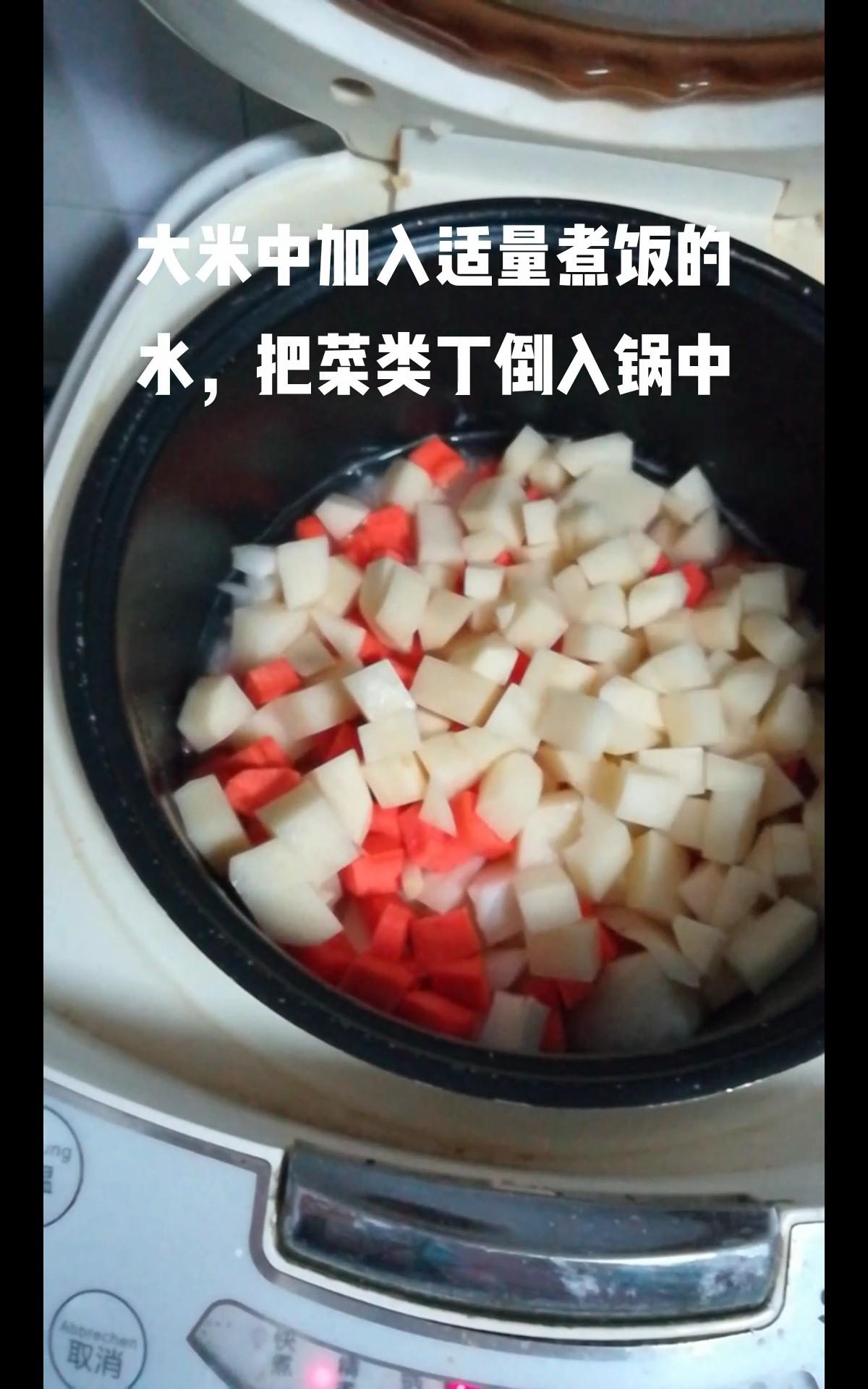 土豆腊味焖饭的简单做法