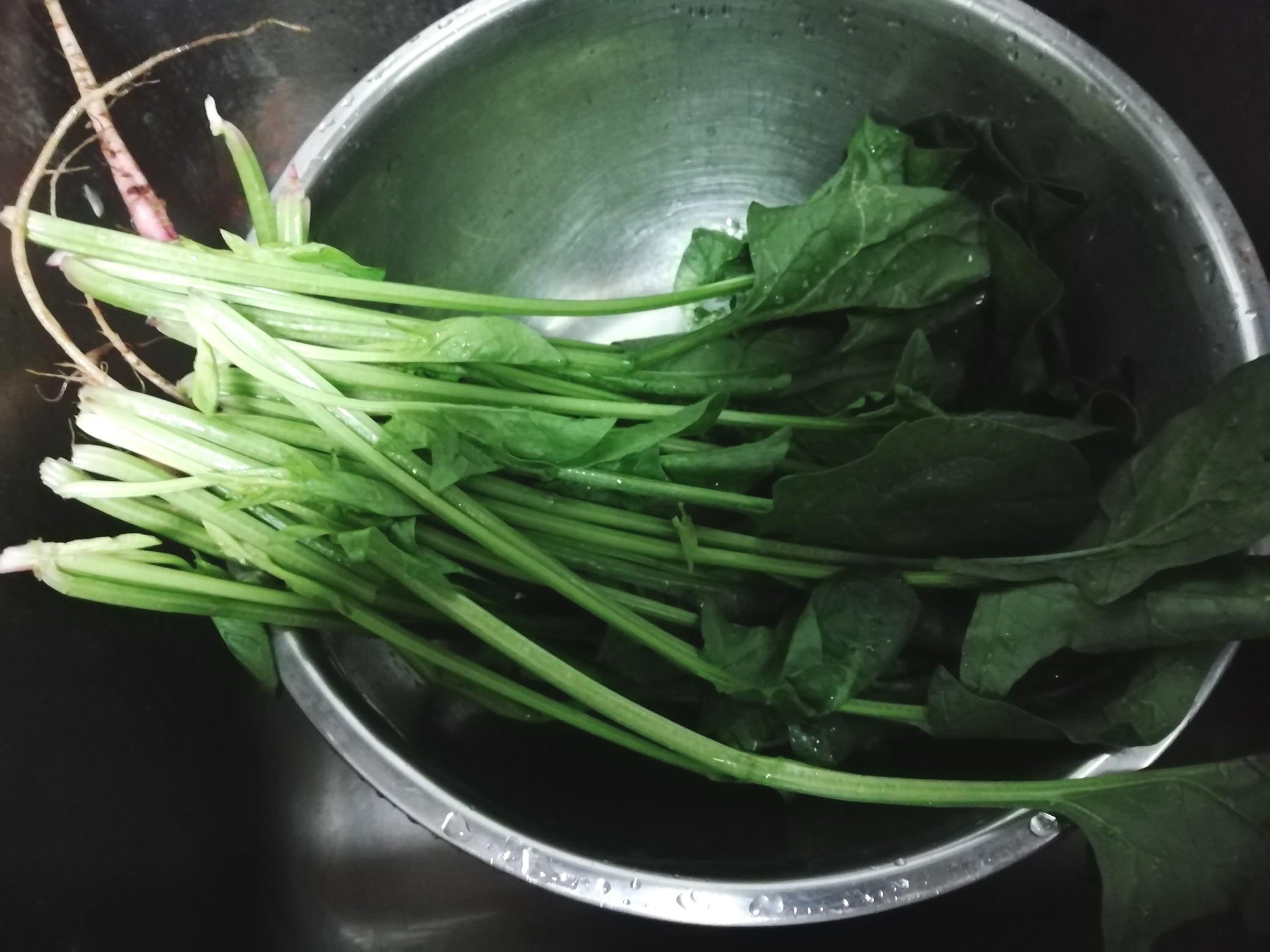 芥末酱拌菠菜粉丝的做法图解
