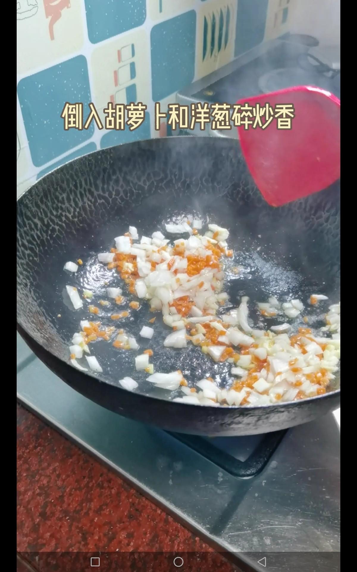 虾仁蛋炒粗粮饭怎么炒