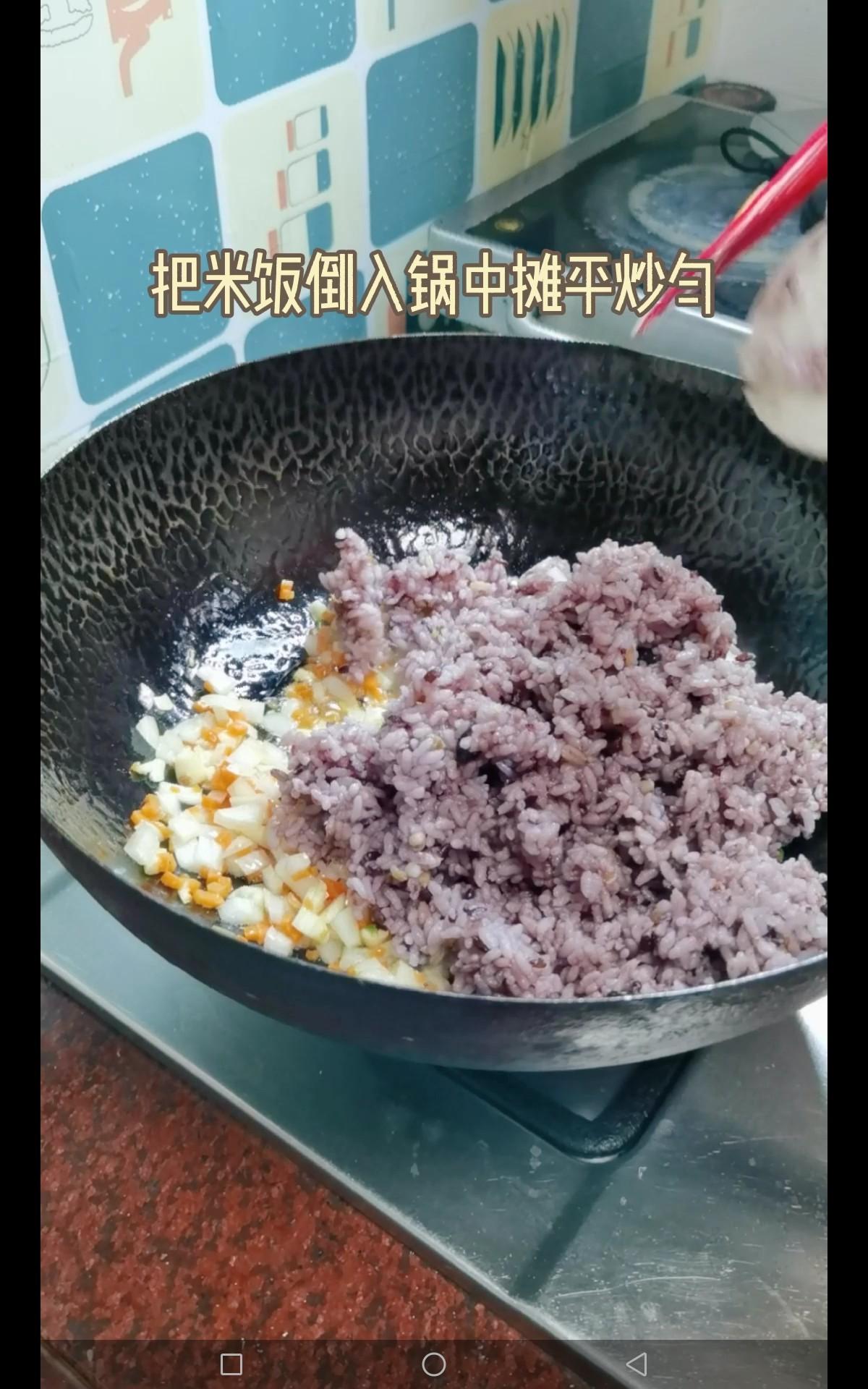 虾仁蛋炒粗粮饭怎么煮