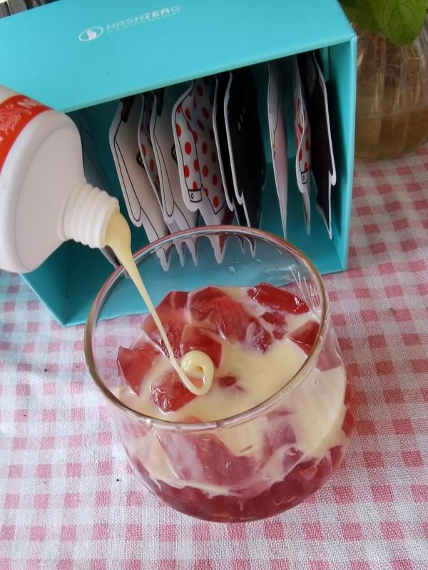 炼奶花果茶冻怎么做