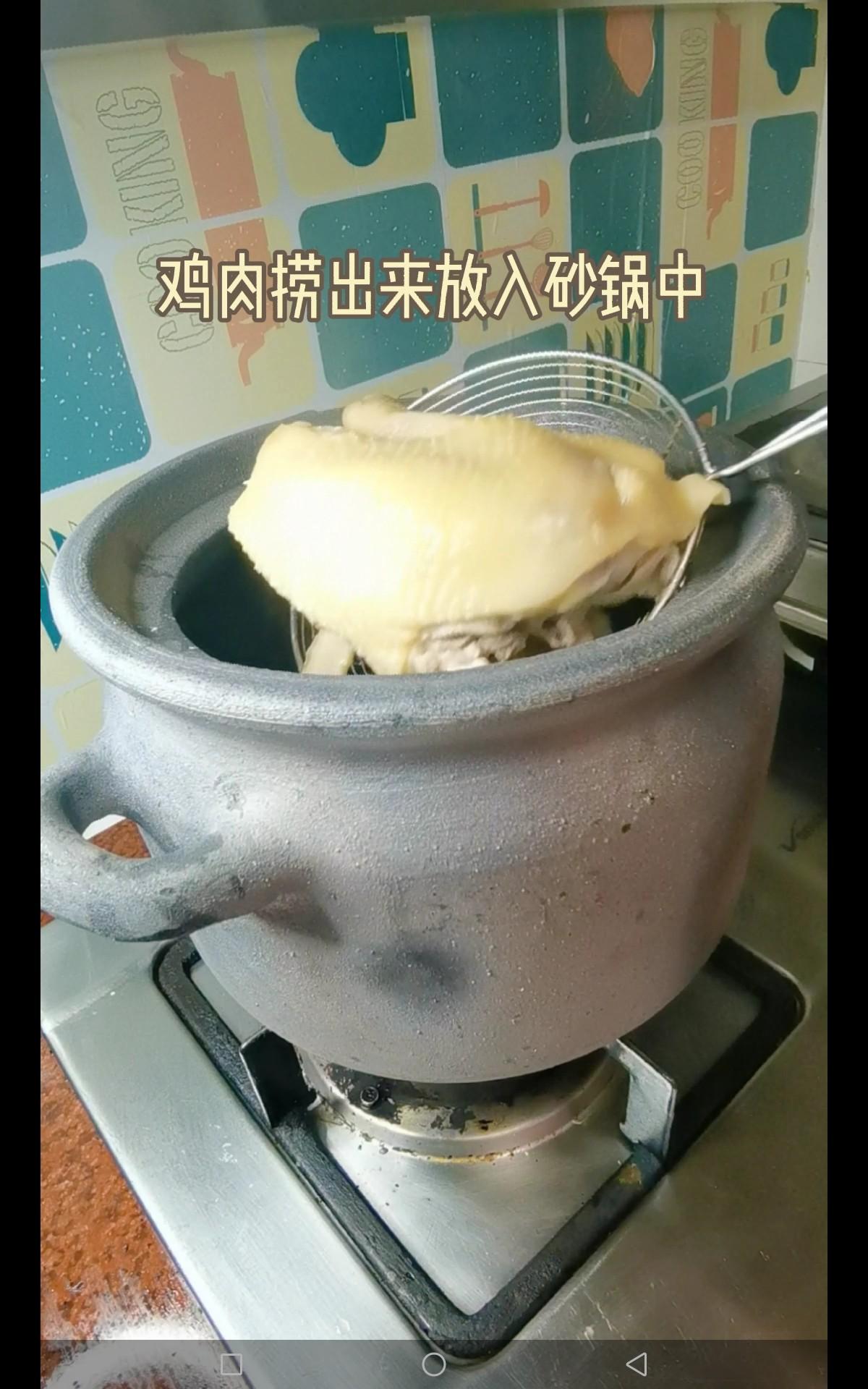 椰子煲鸡汤怎么吃