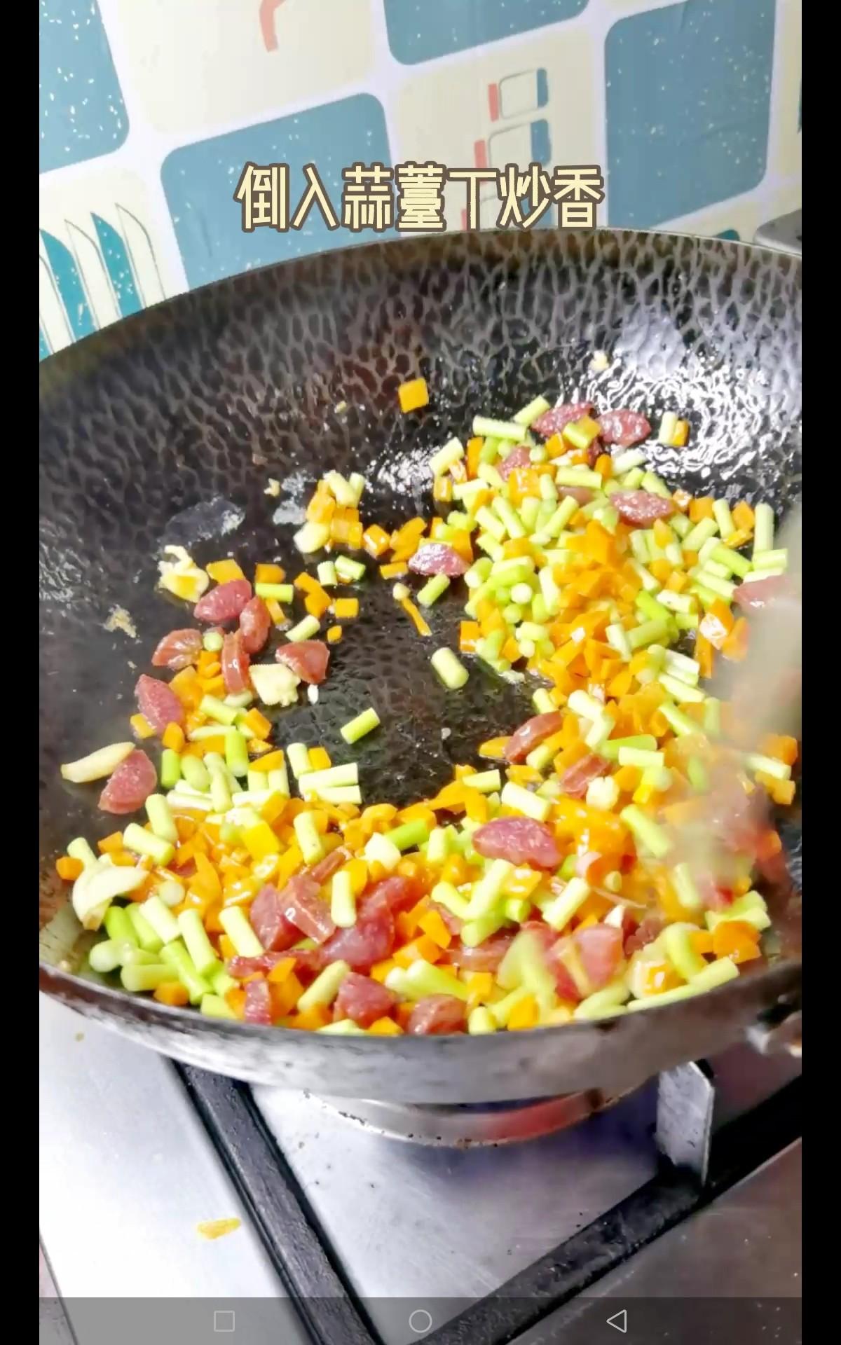 时蔬炒馒头丁怎么吃