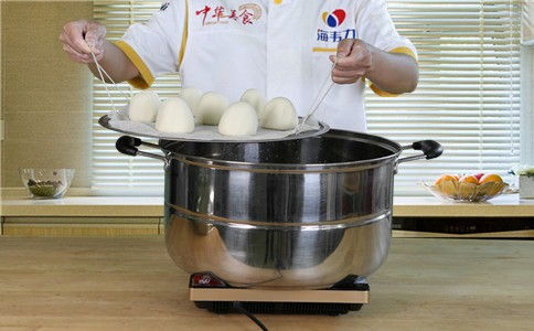 用馒头泡打粉怎样发面蒸馒头步骤&方法怎样煮