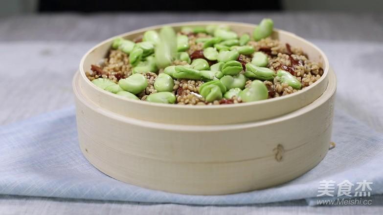 蚕豆糯米排骨的家常做法