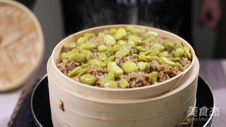 蚕豆糯米排骨的简单做法
