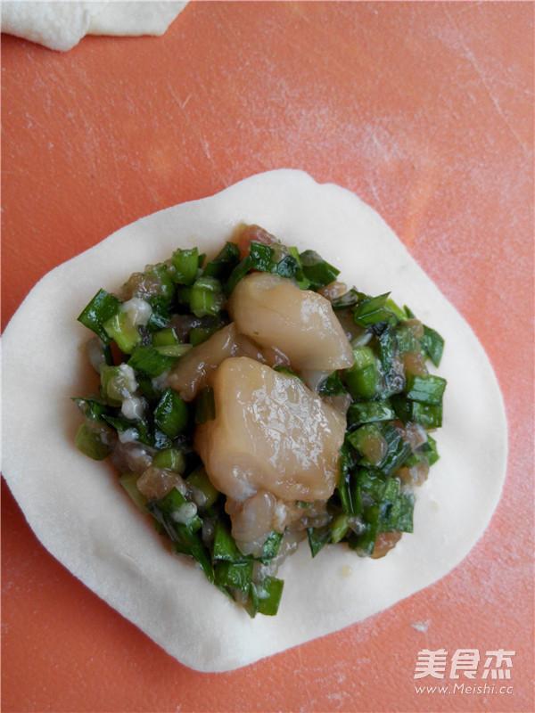 扇贝猪肉韭菜饺子的制作方法