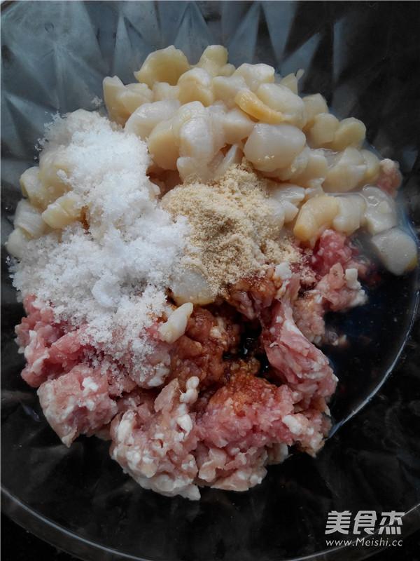 扇贝丁猪肉韭菜饺子馅的简单做法