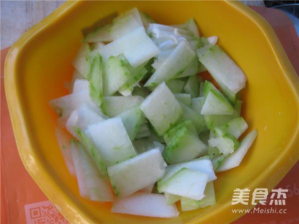 海米冬瓜汤的步骤