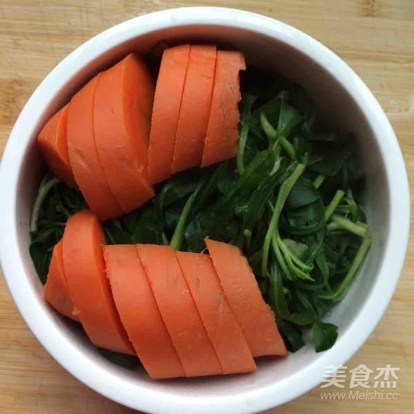 胡萝卜马兰头浓汁的简单做法