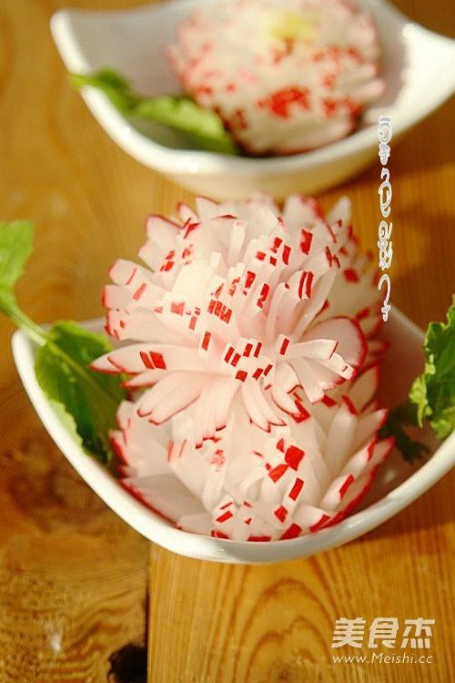 高颜值宴客菜~甜美花儿成品图