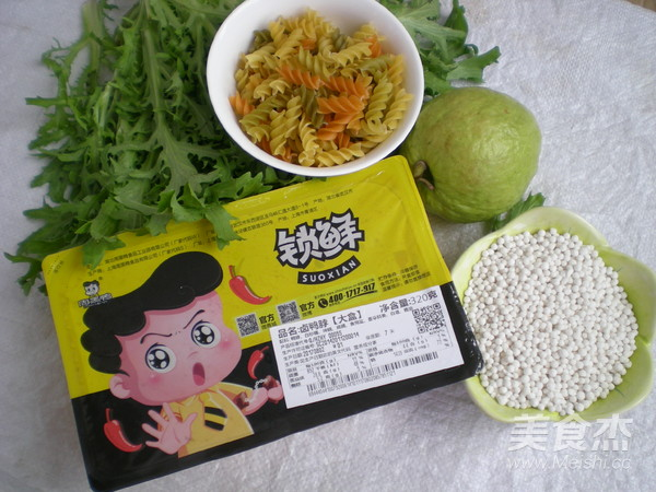 酱鸭脖蔬菜西米的做法大全