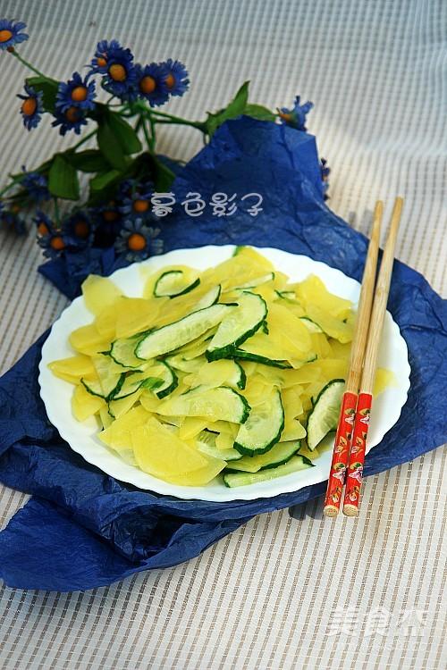 炒黄瓜土豆片成品图