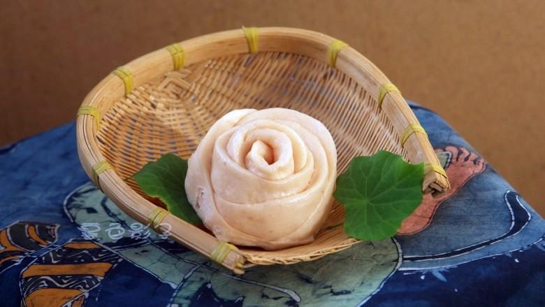 玫瑰花馍馍成品图