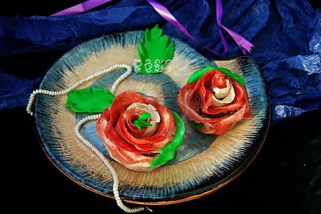 玫瑰豆沙饺子的做法大全