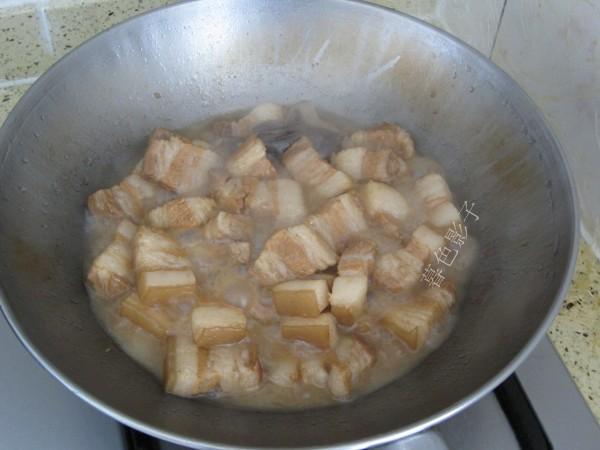 豆腐泡炖肉的步骤