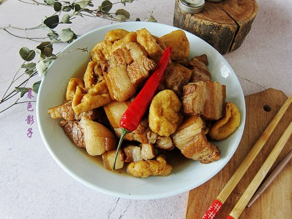 豆腐泡炖肉成品图