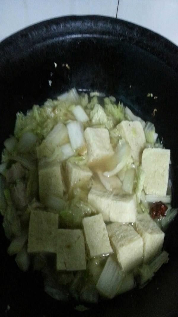 白菜炖冻豆腐怎么煮