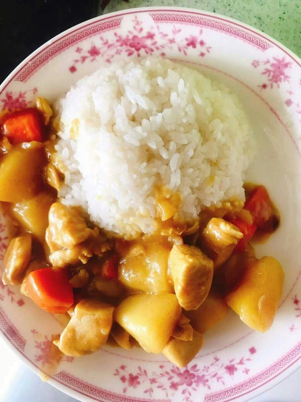 咖喱鸡肉饭的简单做法