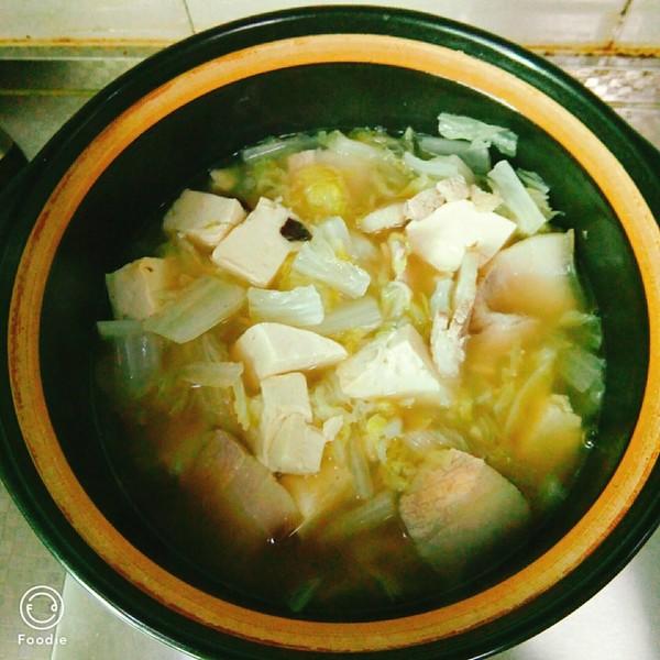 白菜炖豆腐怎么煮