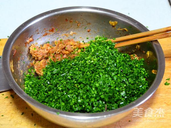 鲜上加鲜的韭菜猪肉三鲜包子怎么吃
