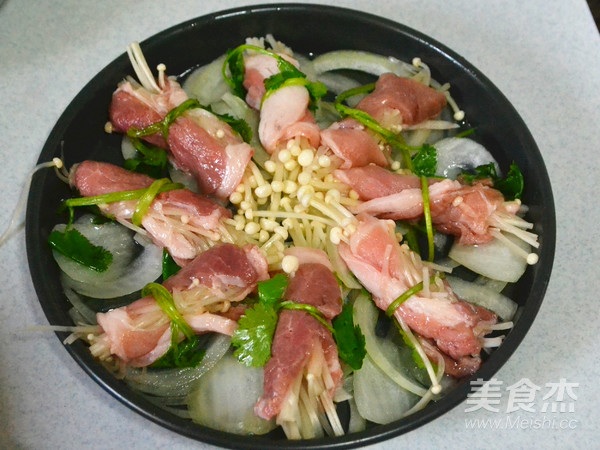 海陆一勺儿烩---蒜蓉虾羊鲜怎么炒
