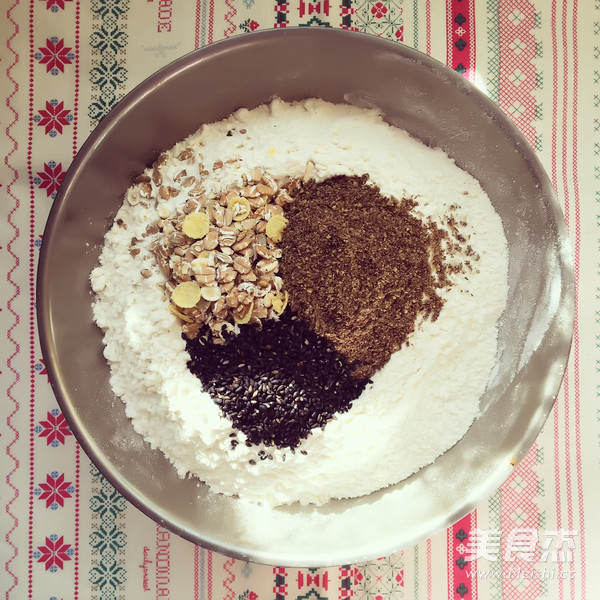 健康全麦无糖杂粮面包的家常做法