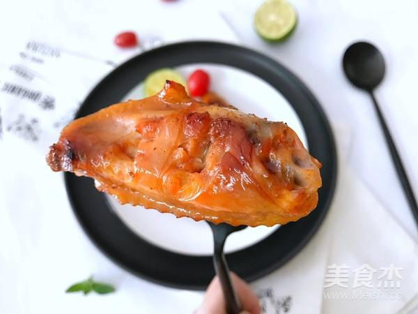 叉烧烤鸡翅成品图