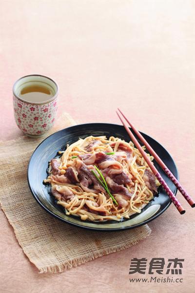 日式金针菇肥牛的简单做法