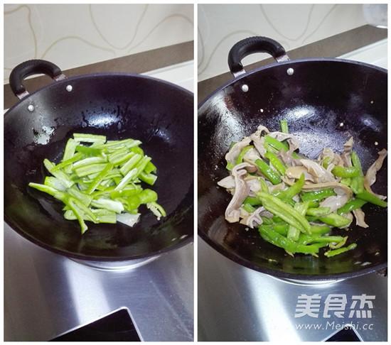尖椒炒猪肚的简单做法