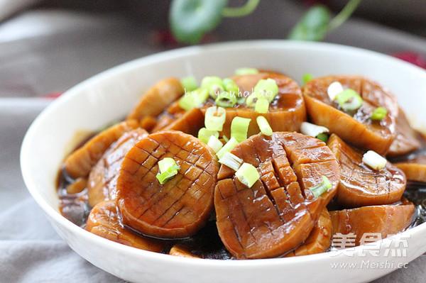 蚝油杏鲍菇成品图