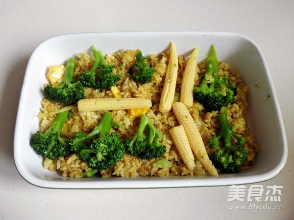 咖喱花菜焗饭怎么煮