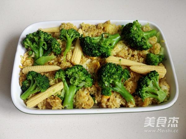 咖喱花菜焗饭怎么煸