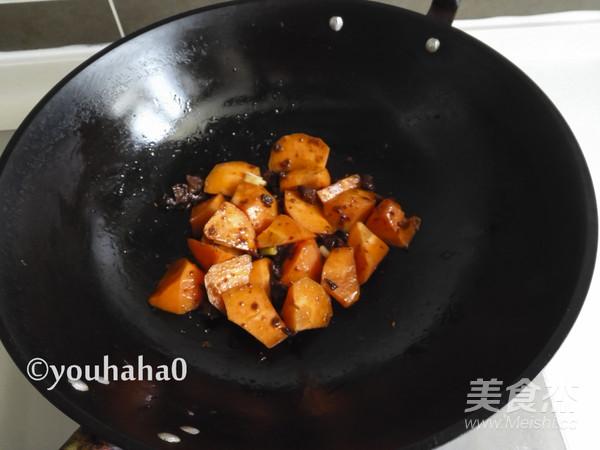 香菇胡萝卜盖浇饭的步骤
