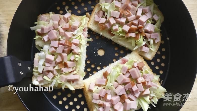 土司披萨的步骤
