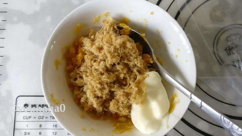 麻薯豆沙肉松蛋黄酥的做法图解