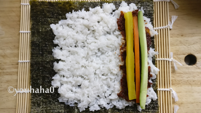 香菇小酱紫菜卷的简单做法