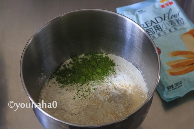 抹茶麻薯肉松包的做法图解