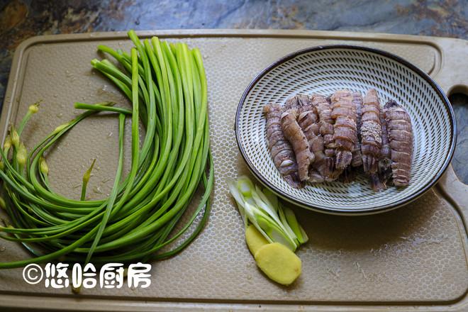 韭苔炒虾虎的做法大全
