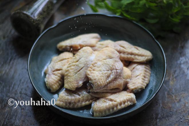 盐煎鸡翅中的做法图解