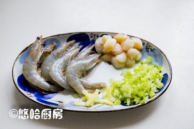 鲜虾干贝粥的简单做法