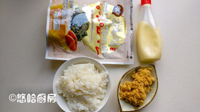 肉松海苔饭团的做法大全