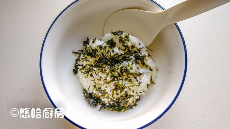 肉松海苔饭团的做法图解