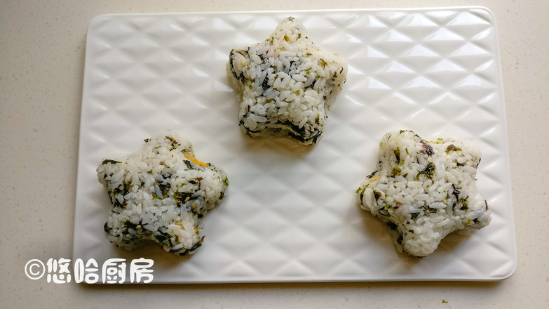肉松海苔饭团怎么吃